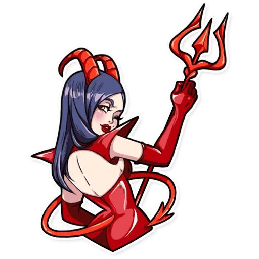 Sticker «Miss Devil-6»