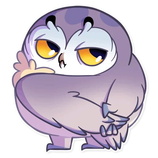 Sticker «Phil The Owl-12»