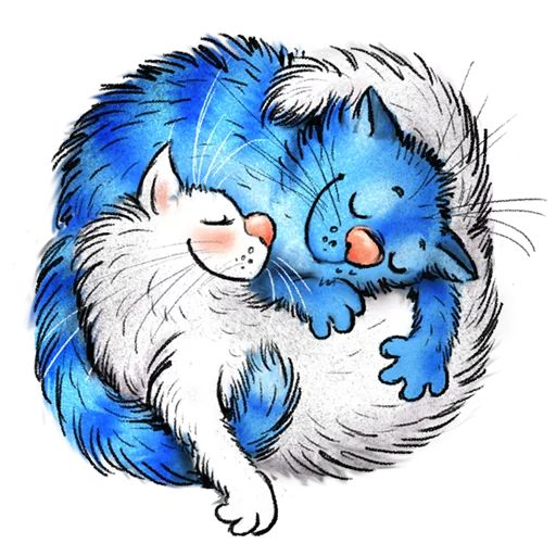 Sticker «Blue Cats-9»